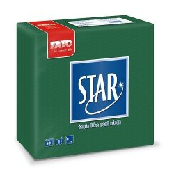 Szalvéta FATO Star 38x38cm zöld 40db/cs 30cs/#