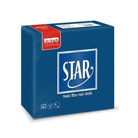 Szalvéta Fato Star 38x38cm sötét kék 40db/cs 30cs/#