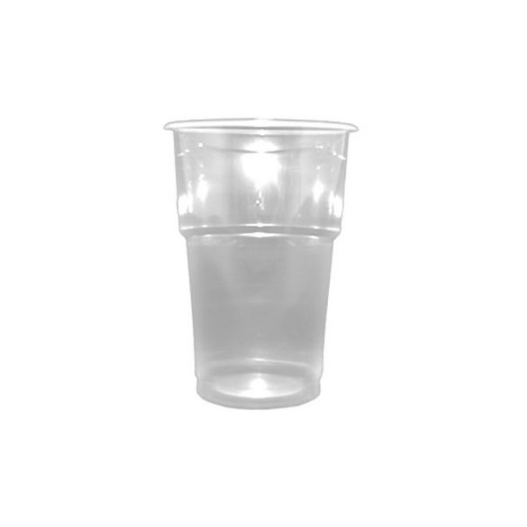Műanyag pohár víztiszta 5dl 75db/cs 1200db/krt