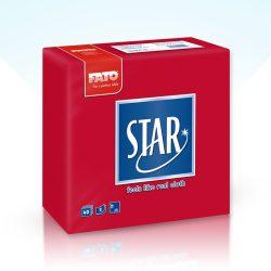 Szalvéta Fato Star 38x38cm piros 40db/cs 30cs/#