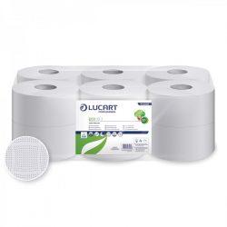 Lucart toalettpapír, 2rtg., Fehér, 19cm, 12db/cs