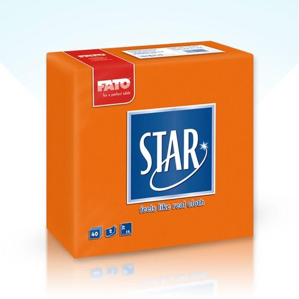 Szalvéta Fato Star 38x38cm narancssárga 40db/cs 30cs/#
