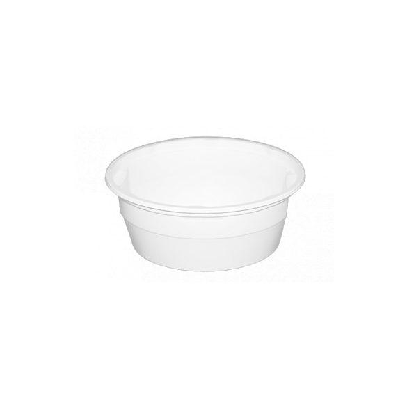 Műanyag gulyás tál fehér 0,5L PP (mikrózható) 50db/cs 550db/krt