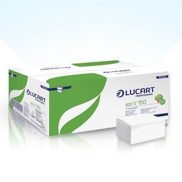 Lucart Z hajtott kéztörlő, 2 rtg., Fehér, 20x150lap/karton