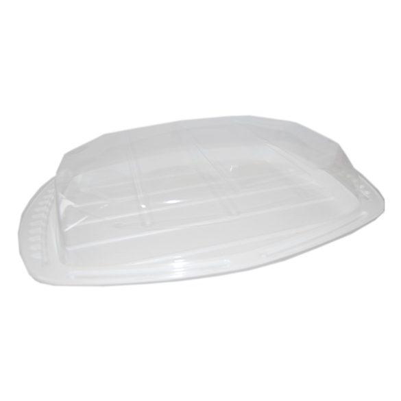 Műanyag hidegtálas tálca szögletes fehér 5 személyes 50db/krt